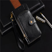 Luxury Zipper Vintage PU Leather Flip Cover Wallet Case For Samsung Galaxy S10 S10 Lite S10 Plus With Card Holder Slot