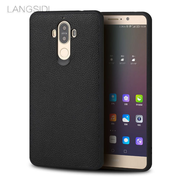 Luxury Brand Phone Case Small Litchi Grain All-inclusive Phone Case For Huawei Mate 9 Phone Case Handmade Custom Processing
