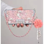 Luxury Strap Phone Cover For Huawei P10 P9 Plus Flower Tassel Case For Huawei P10plus P9plus P9 P10 Pearl Handbag Phone Case