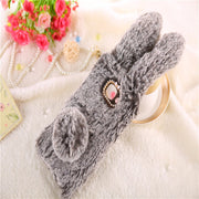 MDFUNDAS Top Quality Soft Silicon Fitted Cases Cover For Samsung Galaxy J7 Max Case Plush Rabbit Skin Shell For Samsung J7 Max