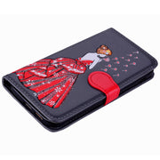 Magnet Book PU Leather Case For Samsung Galaxy A5 2017 Coque Hoesje Dress Girl Leather Cover A520F Etui Kryt Funda Tok Carcasa