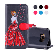 Magnet Book PU Leather Case For Samsung Galaxy S8 Coque Hoesje Dress Girl Leather Cover S8+ S8 Plus Etui Kryt Funda Tok Husa