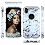 Marble Pattern Shockproof Tough Hybrid Armor Drop Protection Case Cover For IPhone XS MAX 6.5""