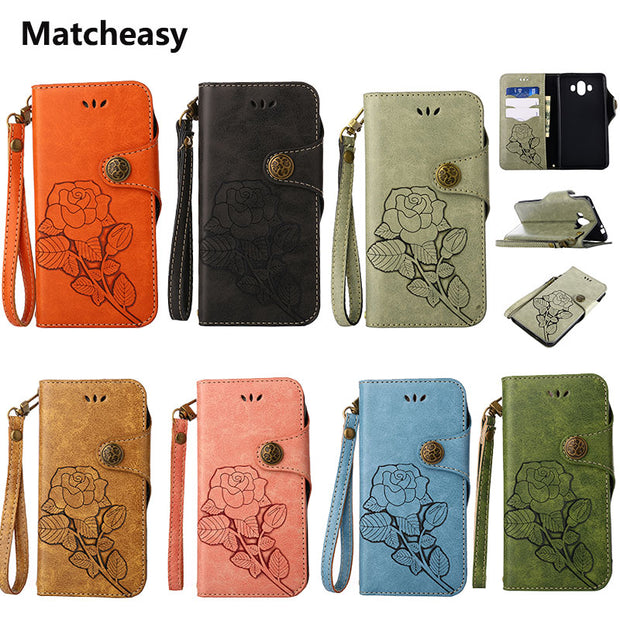 Matcheasy Flip Case For Huawei Y3 Y5 2017 Cover PU Leather Full Cover For Huawei P8mini P9mini P10 Mini Honor 9 Mate10 Case Capa