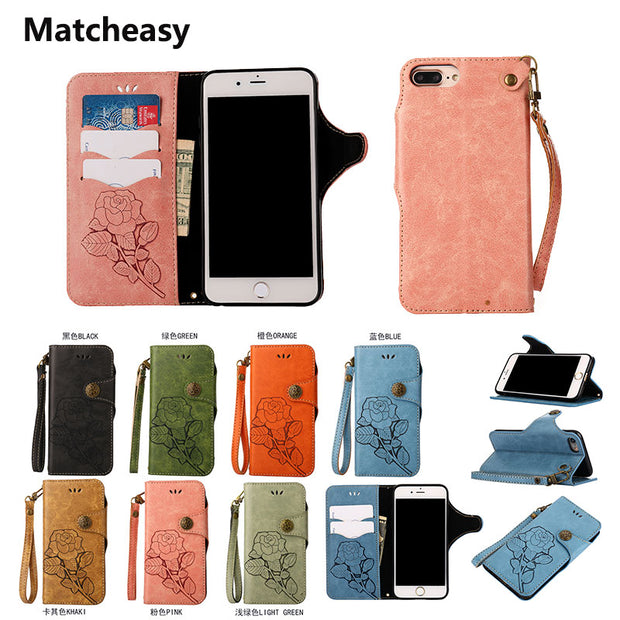 Matcheasy Luxury Retro Flip Cover For IPhone X Case Full Cover Protector For IPhone 7 8 Plus 6S Plus 7Plus Anti-scratch Coque