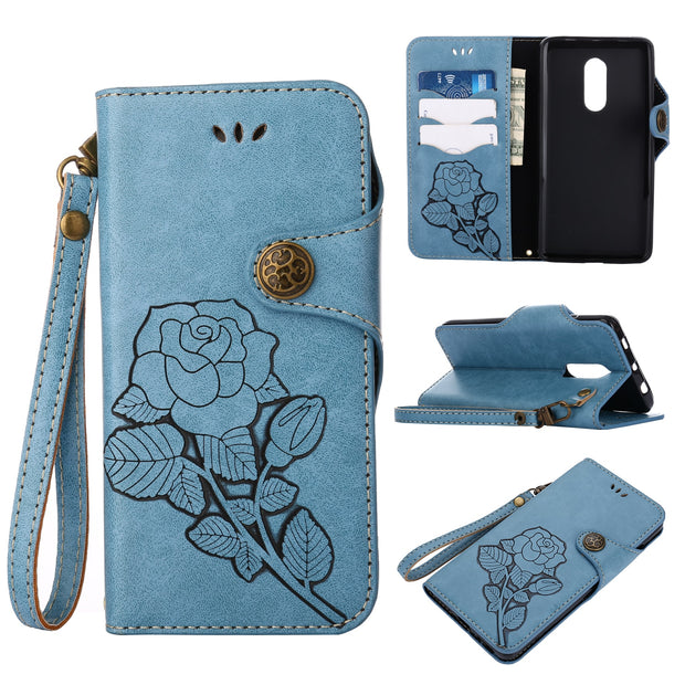 Matcheasy Stand Wallet Cover For Xiaomi Mi 6 Case Vintage Flower With Card Pocket Full Cover Anti-scratch For Redmi Note4 Note4X