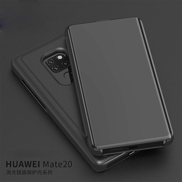 Mate 20 Case For Huawei Mate 20X Cover Flip Smart Magnetism Clear View Mirror Stand Phone Shell For Huawei Mate 20 X Coque Funda