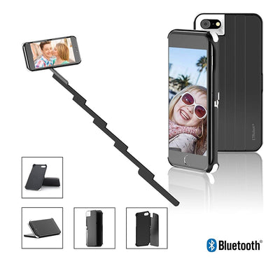 Mini Selfie Stick With Button Two In One Phone Case Handle Monopod Universal For IPhone X 7 8 Plus Phone Case Selfie Sticks