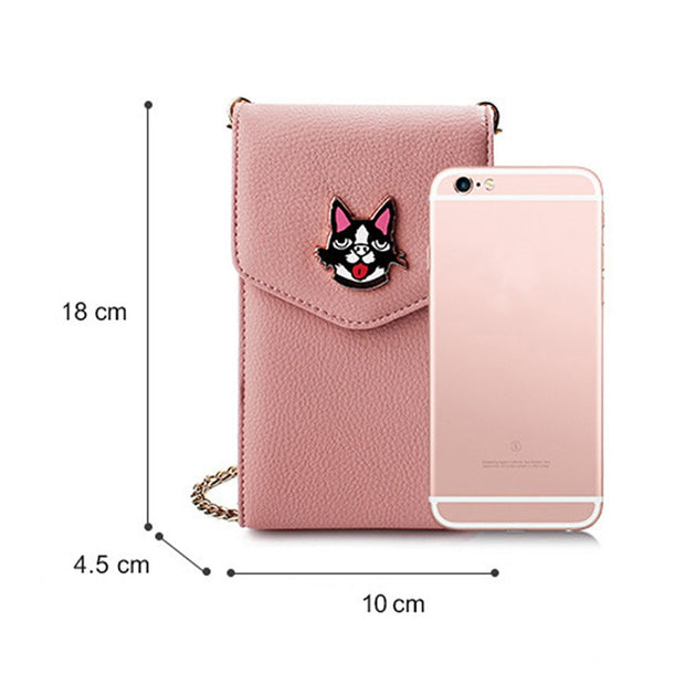PU Leather Cross-body Mobile Phone Shoulder Bag Pouch Case For iPhone 6 5 ZY
