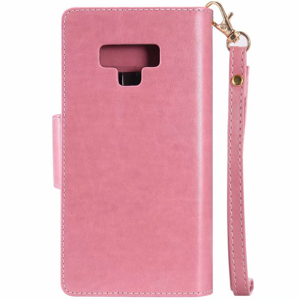 Mirror Wallet For Iphone X 8 7 6 5SE Short Chain PU Leather Case For Samsung S7 S8 S9 Note8 Note9 Women Phone Case Cover A8 2018