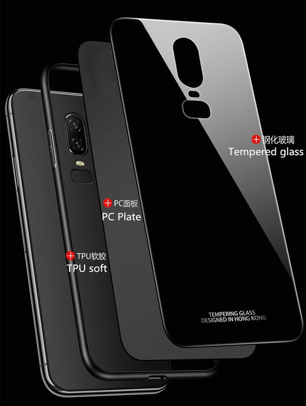 Mobile Cover Cases For Oneplus 5T 5 T 6t Tempered Glass Magnetic Ring Holder Case For Oneplus 6 / One Plus 6 Cover Shell