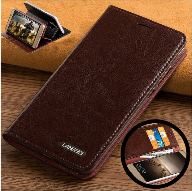 ND06 Genuine Leather Flip Case Cover For Huawei Honor 8X(6 5') Leather Case  For Huawei Honor 8X Phone Case With Card Slots