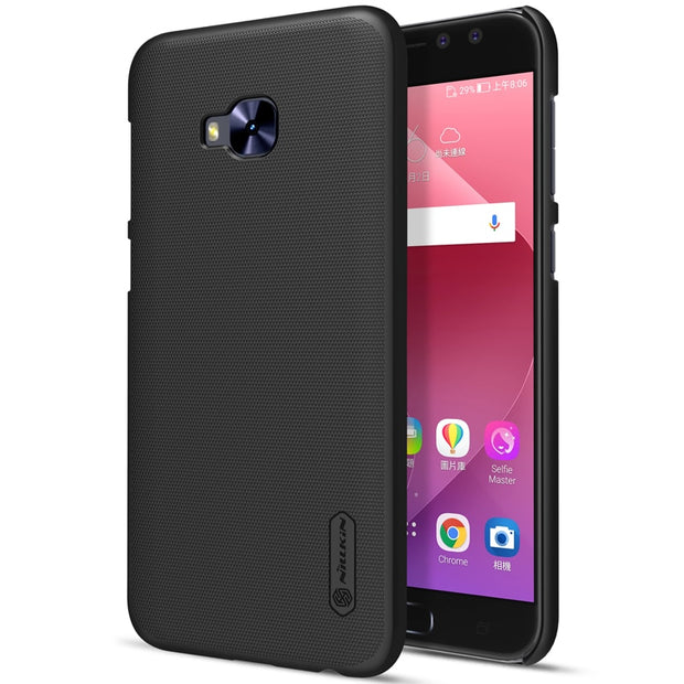 NILLKIN Case For Asus Zenfone 4 Selfie Pro Zd552kl Super Frosted Shield Back Cover With Free Screen Protector And Retail Package