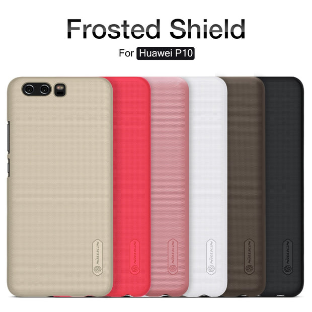 NILLKIN Case For Huawei P10 5.1 Inch Super Frosted Shield Back Cover With Free Screen Protector And Retail Package