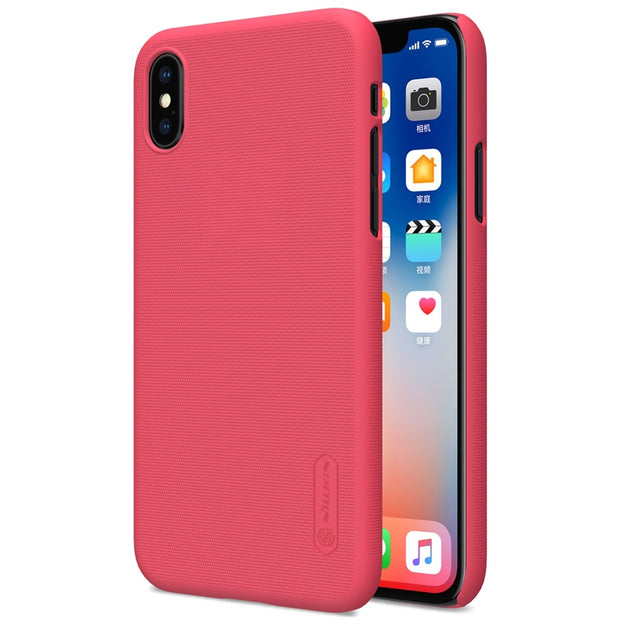 NILLKIN Case For Iphone X Super Frosted Shield Back Cover With Free Screen Protector And Retail Package