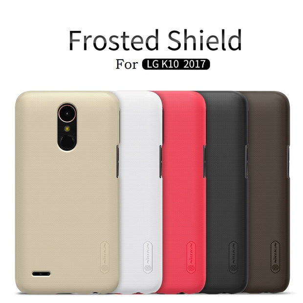 NILLKIN Case For Lg K10 2017 5.3 Inch Super Frosted Shield Back Cover With Free Screen Protector And Retail Package