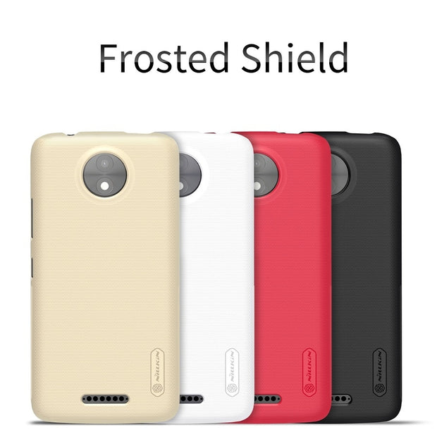 NILLKIN Case For Moto C 5.0 Inch Super Frosted Shield Back Cover With Free Screen Protector And Retail Package