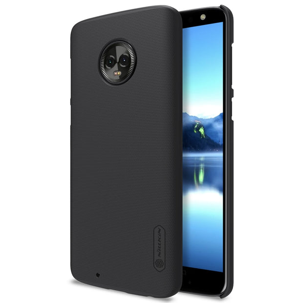 NILLKIN Case For Moto G6 5.7 Inch Super Frosted Shield Back Cover With Free Screen Protector And Retail Package