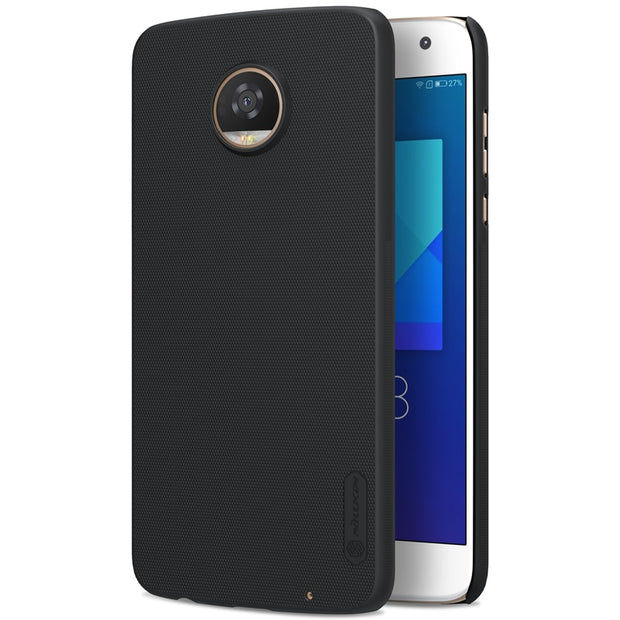 NILLKIN Case For Moto Z2 Play 5.5 Inch Super Frosted Shield Back Cover With Free Screen Protector And Retail Package