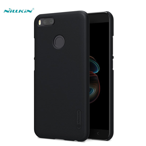 NILLKIN Case For Xiaomi 5x 5.5 Inch Super Frosted Shield Back Cover With Free Screen Protector And Retail Package
