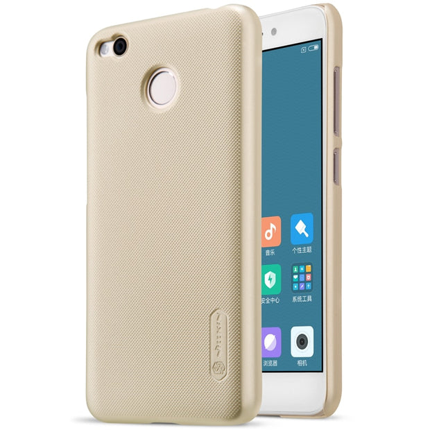 NILLKIN Case For Xiaomi Redmi 4x 5.0 Inch Super Frosted Shield Back Cover With Free Screen Protector And Retail Package