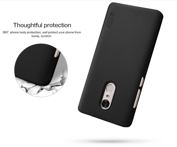 NILLKIN Case For Xiaomi Redmi Note 4x 5.5 Inch Super Frosted Shield Back Cover With Free Screen Protector And Retail Package