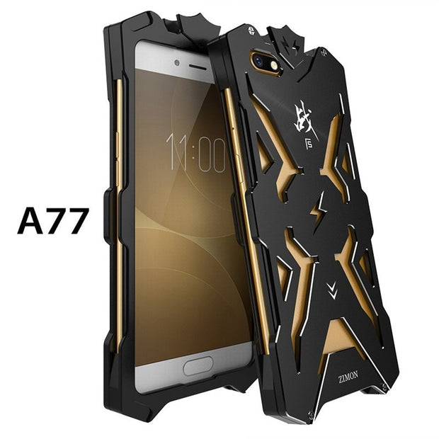 on sale de690 cc8f4 New Design Zimon Metal Armor Cases For OPPO A77 Aluminum Cover For OPPO A77  Phone Housing