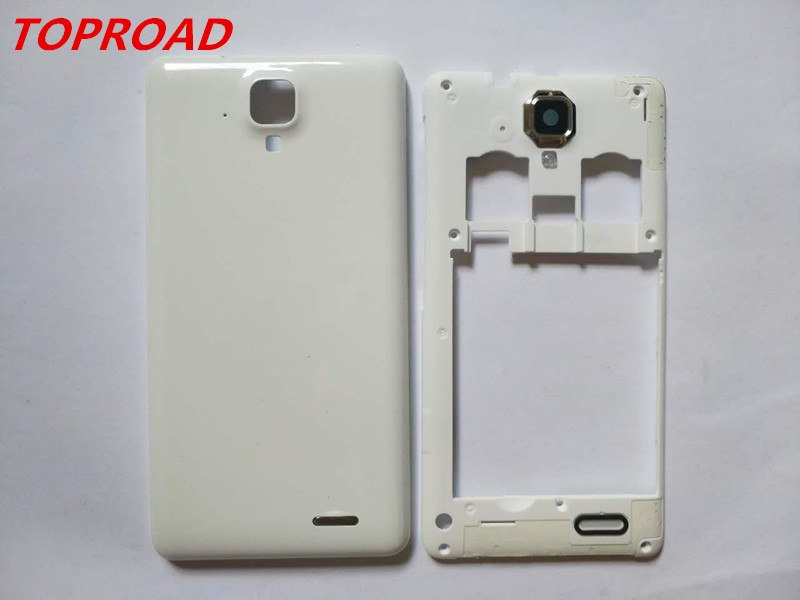 online retailer e8103 9c7f1 New Double Card Middle Frame Battery Door Back Cover Housing Case For  Lenovo A536 A358T With Power Volume Buttons
