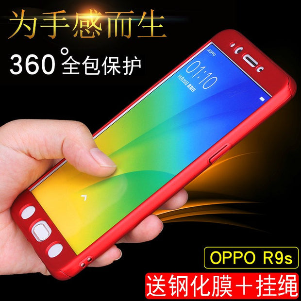 New For OPPO R9s R9s Plus Luxury 360 Degree Full Body Protection Cover Cases On For OPPO R9splus R9s Cases With Tempered Glass