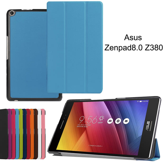 New Magnetic Smart PU Leather Cover Case For Asus Zenpad 8.0 Z380 Z380C Z380KL 8 Inch Tablet Cases Case +Film+Stylus Pen