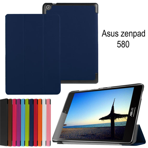 New Magnetic Smart Pu Leather Cover Case For Asus Zenpad S 8.0 Z580 Z580C Z580CA 8 Inch Tablet Cases Case +Film+Stylus Pen