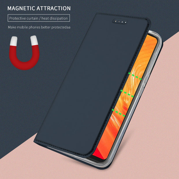Newest For Oneplus 6 Flip Standcase Holster Luxury PU Leather+TPU Inner Protector Case For Oneplus 6 One Plus Six Magnetic Cover