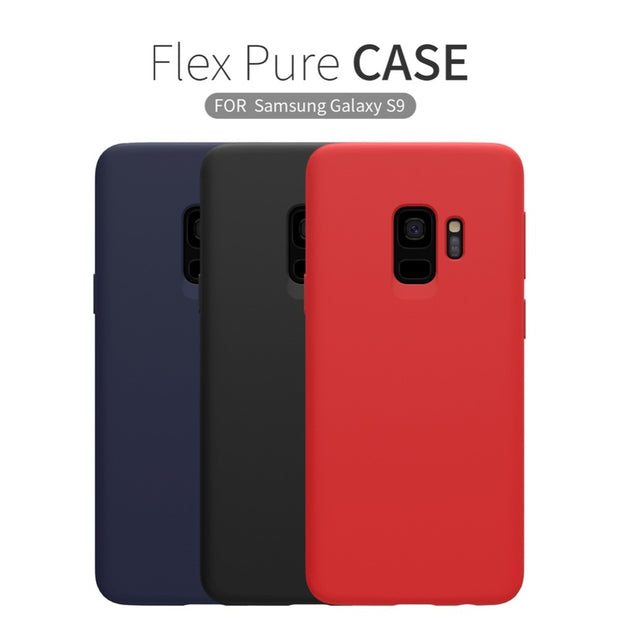 finest selection 8b215 e924a Nillkin Flex Pure Case For Samsung Galaxy S9 Phone Case Silicone Cover For  Samsung S9+ S9 Plus Protective Cover Matte Soft Case