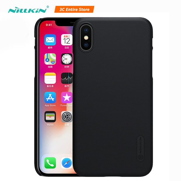 Nillkin For Iphone X Case Cover Frosted PC Hard Plastic Back Cover For Iphone X Case With Phone Holder For IPhone X 5.18'' Caso