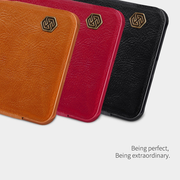 Nillkin Qin Series Leather Case For Xiaomi Pocophone F1 Flip Cases Phone Bags Genuine Luxury Cover For Xiaomi Poco F1