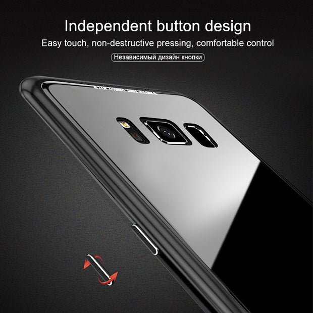 OLLIVAN Full Magnetic Phone Case For Samsung Note 9 Cover Case On For Galaxy Note 9 Cover Note9 Cases Metal Adsorption 6.4 Inch