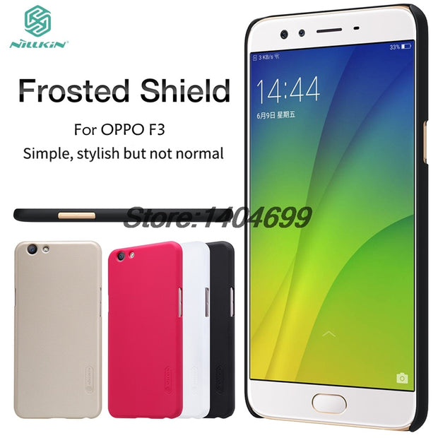 OPPO F3 Case Cover Nillkin Frosted Shield Hard Armor Back Cover Matte Case For OPPO F3