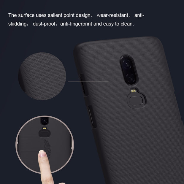 Oneplus 6 Case NILLKIN Super Frosted Shield Hard Back Cover Case For Oneplus 6 5 5T 3 3T With Retail Package