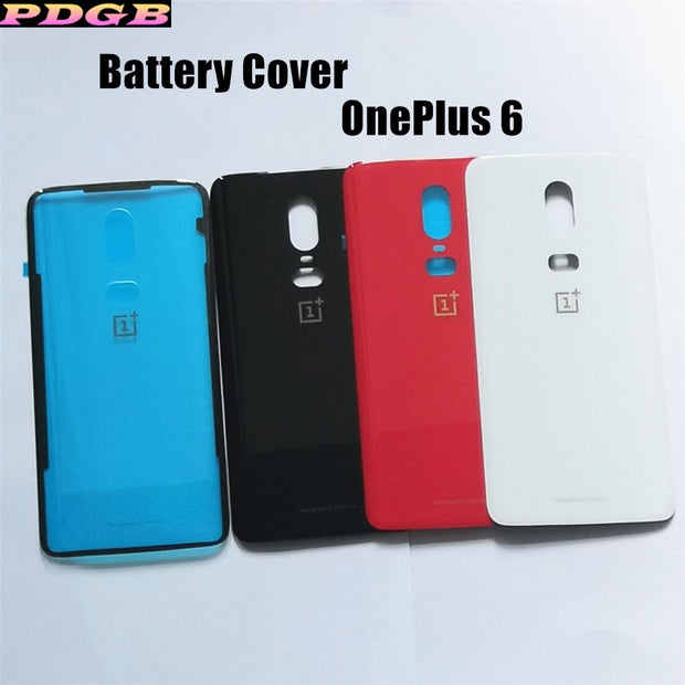 Original Battery Cover For OnePlus 6 Phone Case One Plus 6 Luxury Tempered Glass Back Housing Replacement Part