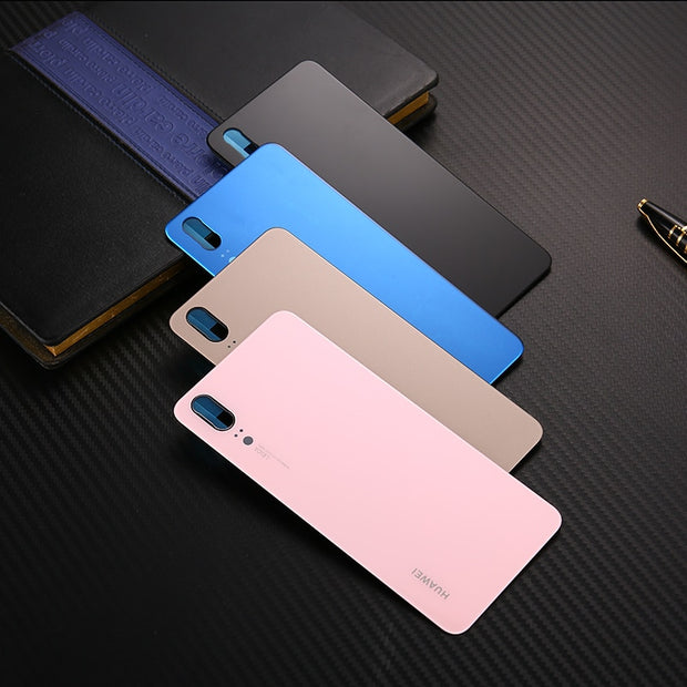 P20 Official Original Tempered Glass Cover Case For Huawei P20 Back Battery Cover Housing Replacement Parts P20 + Free Sucker
