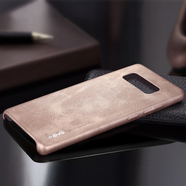 PU Leather Case For Samsung Galaxy Note 8 Back Cover X-level Ultra Thin 360 Full Protection Phone Case Cover