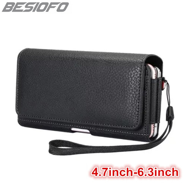 Phone Case With Belt Clip Horizontal Holster Double Pockets Magnetic Pouch Waist Cover For Huawei P6 P7 P8 P9 P10 Lite Plus P20