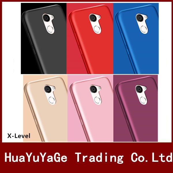 Phone Cases For Huawei Enjoy 8 X-Level Silky TPU Matte Ultra Thin Back Anti-drop Shockproof Soft Cover For Huawei Y7 Prime 2018