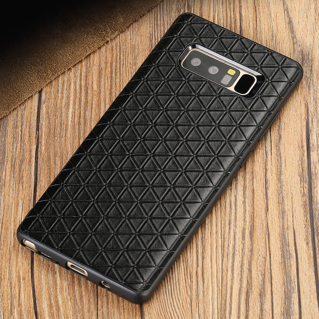 Phone Case For Samsung Galaxy S7 S8 S9 Plus Note 8 9 Case Triangle Texture Business Back Cover For A5 A7 A8 J5 J7 2017 Case