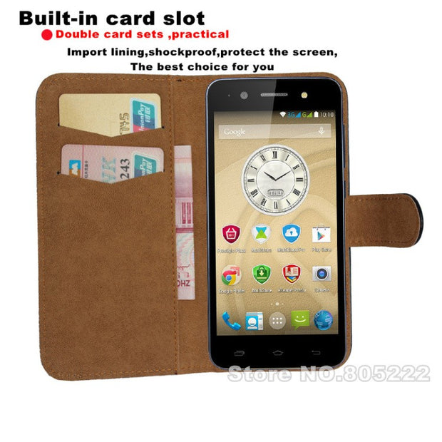 Prestigio Wize M3 3506 DUO Smartphone Case, New 2016 Flip Leather Cover Case For Prestigio Wize M3 3506 DUO Drop Shipping