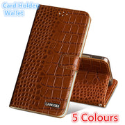 QH15 Wallet Genuine Leather Flip Case For Huawei P20 Lite(5.84') Phone Case For Huawei P20 Lite Back Case With Card Slots