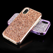 QIKEFANG Fashion Bling Full Crystal Diamond Soft Electroplate Back Case Cover For Samsung Galaxy Note 9 8 S9 S8 Plus