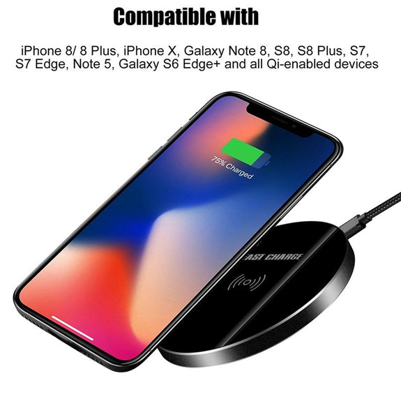 new concept e38e4 35a6a Qi Wireless Charger For Samsung Galaxy Note 8 S8 S9 Plus Case Cover Wi