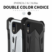 R-JUST For IPhone Xs Max Xr Case Coque WaterProof Shockproof Strong Armor Metal Cover For IPhone 7 8 Plus X Full Protection