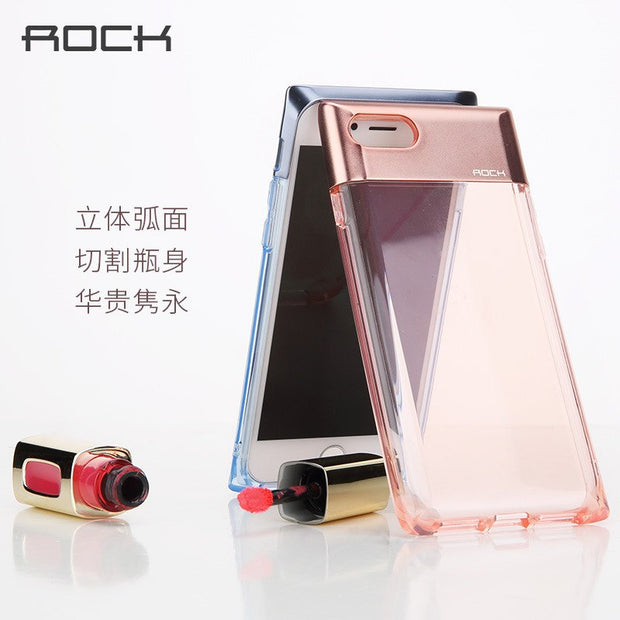 ROCK Perfume Bottle Series Mobile Phone Protection Case For IPhone 7 7 Plus Fashion Transparent TPU+PC Telefoon Hoesje Fundas